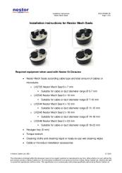 Installation instructions for Nestor Mech Seals (ENG)