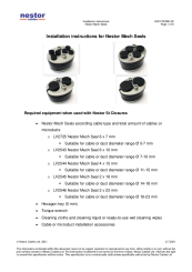 Installation instructions for Nestor Mech Seals (ENG)